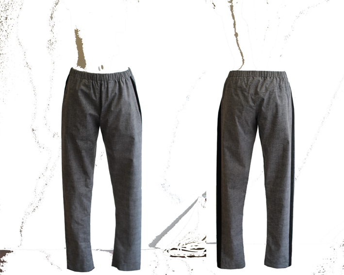 S16 Tr03 trousers stripe printed