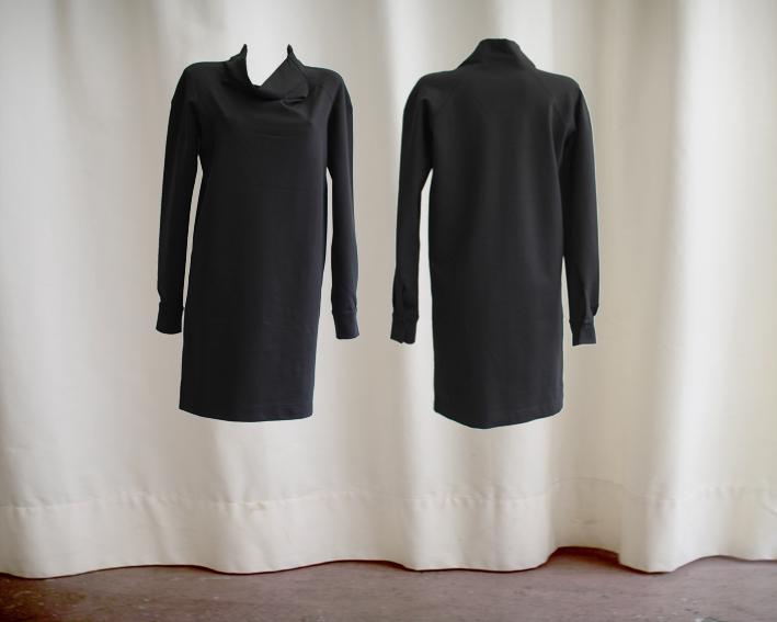 W16 D05 dress boat neckline jersey black