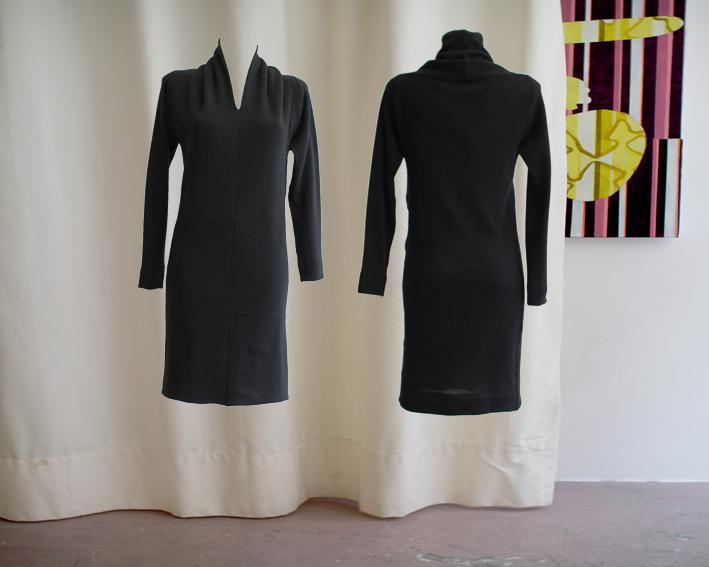 W16 D07dress scarf wool black