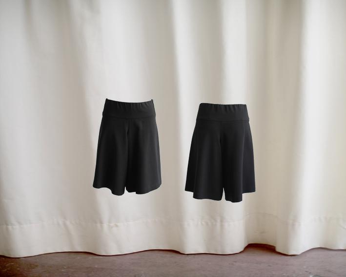 W16 P04 pantskirt waistband jersey black