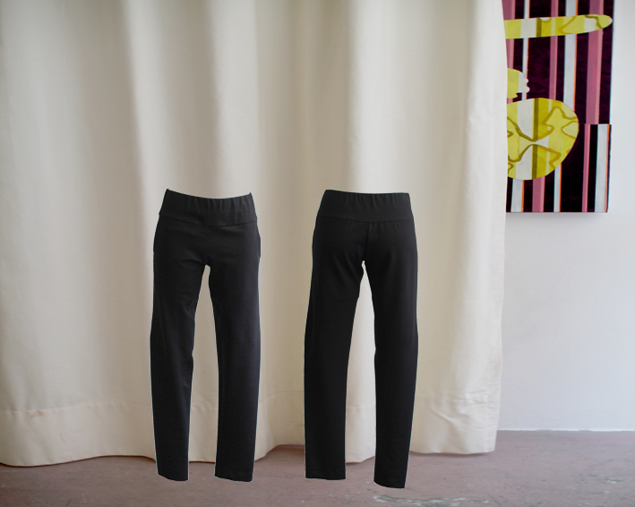 W16 Tr03 trousers waistband jersey black