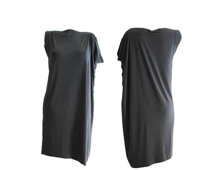 S17 D11 dress square asymmetric jersey blue.silver