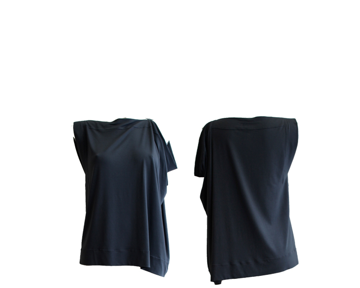 S17 T12 top square asymmetric jersey blue silver