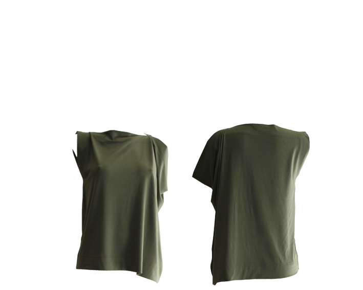 S17 T12 top square asymmetric jersey green.silver