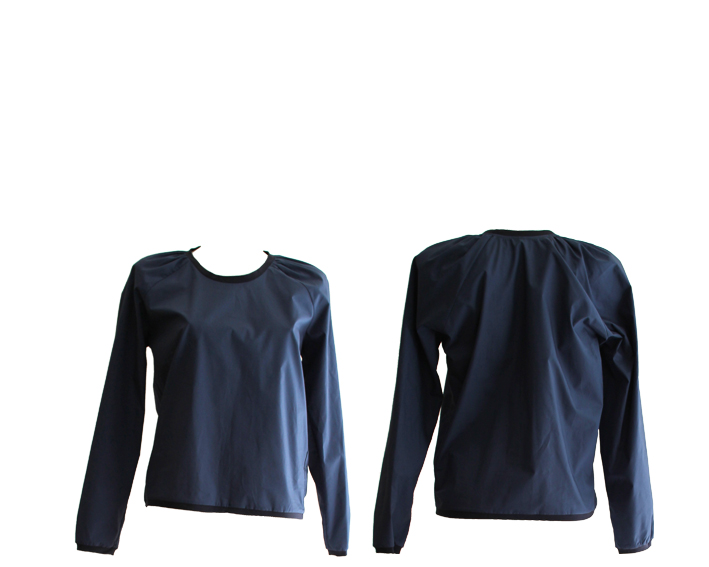 S17 T13 top raglan roundneck pleats blue.blue