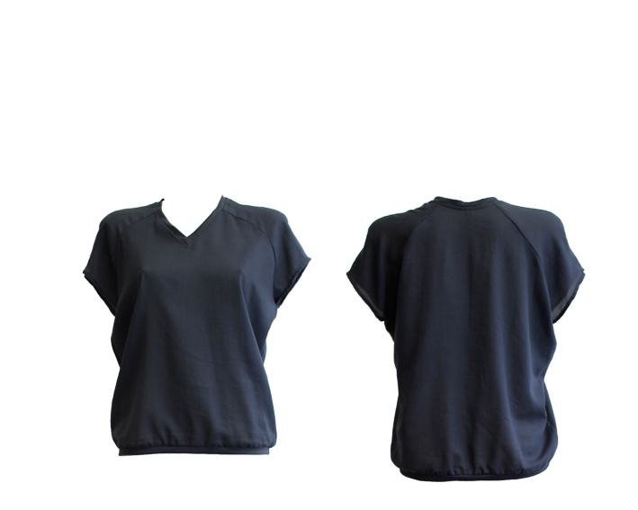 S17 T14 top raglan blue -blue