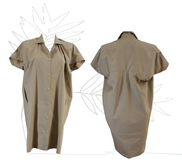 S18 D04 dress blouse dive in popeline