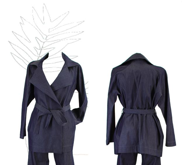 S18 J02 jacket raglan blue jeans