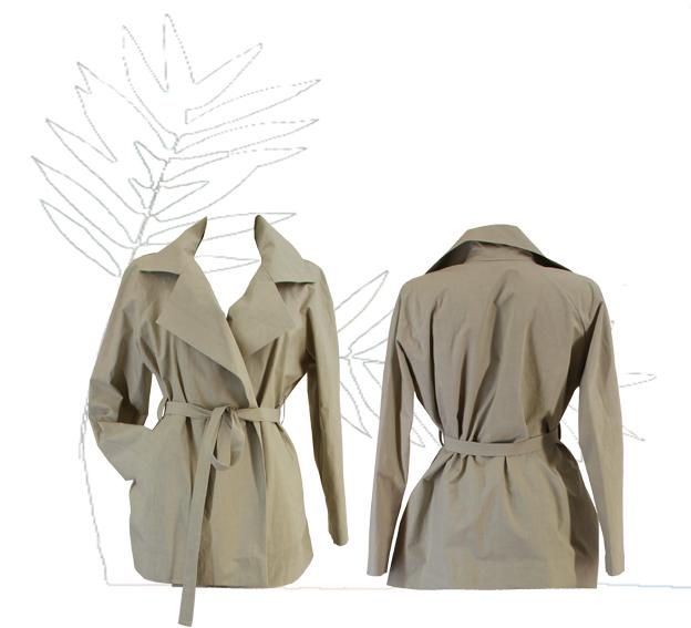 S18 J02 jacket raglan popeline