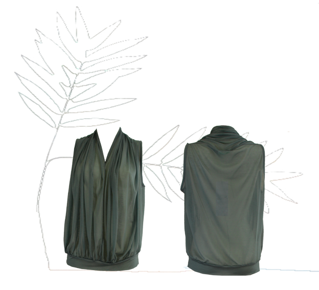 S18 T12 top scarf green