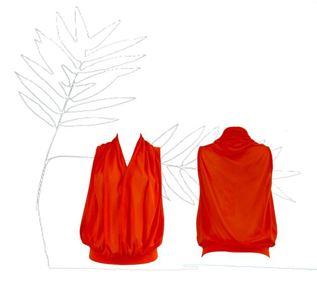 S18 T12 top scarf orange