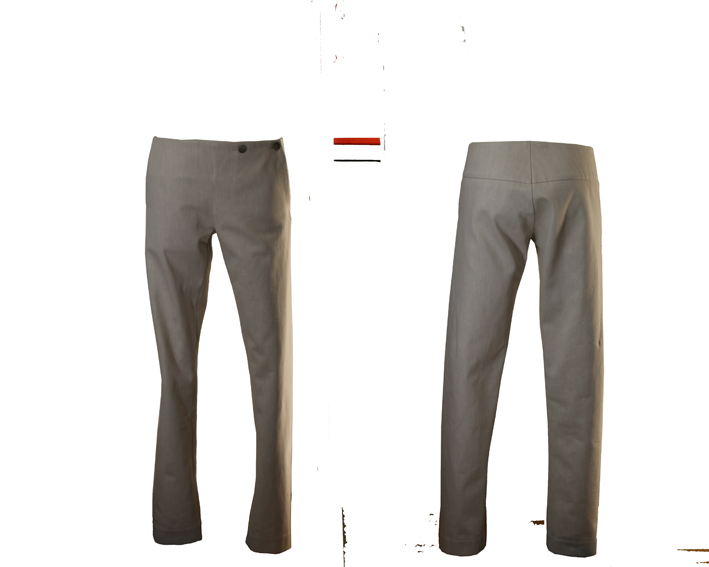 S19 Tr02 trousers flap jeans off white