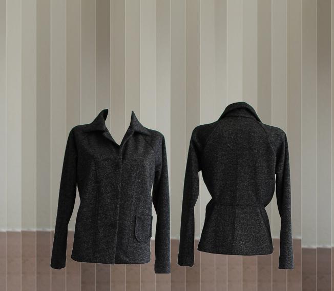 W20 J02 jacket gussets glitter sweat black