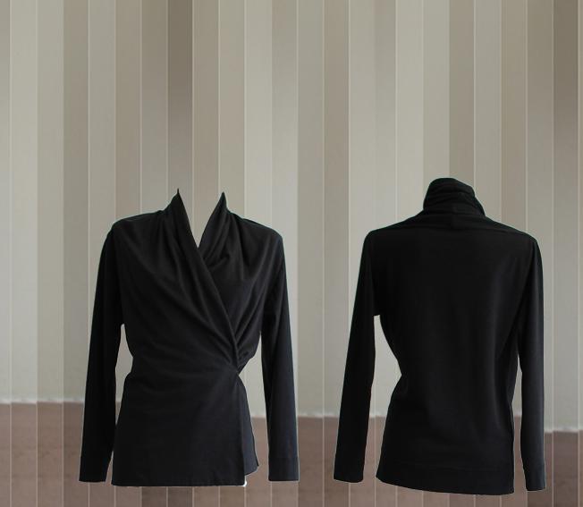 W20 J04 jacket scarf cotton wool black
