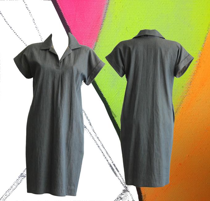 S20 D01 dress blouse melange jeans