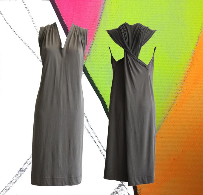 S20 D04 dress twisted mud