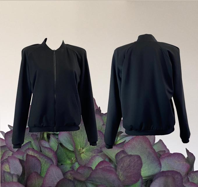 W20 J02 blouson shoulder pleat black